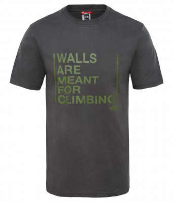 M S/S WALLS ARE FOR CLIMBING TEE-EU