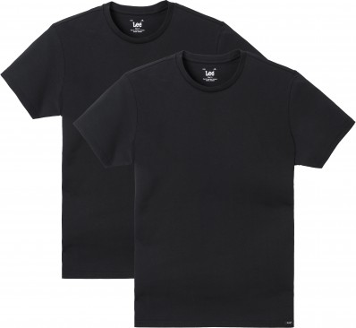 TWIN PACK CREW BLACK
