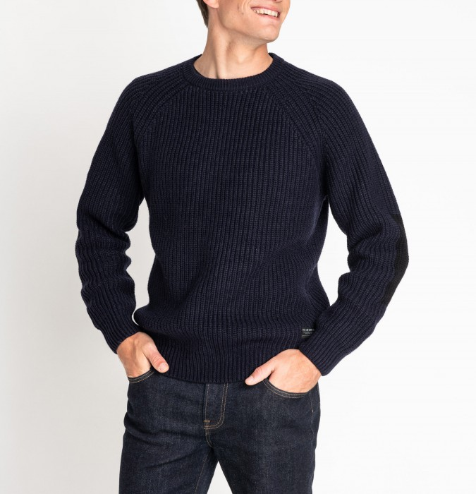 detail CHUNKY CREW NECK MIDNIGHT NAVY