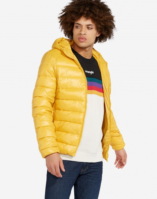 detail PUFFER JACKET MINERAL YELLOW