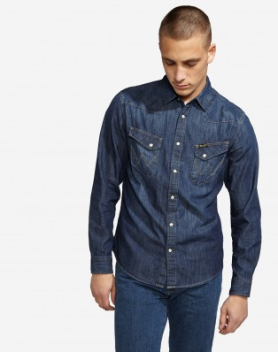 WESTERN DENIM SHIRT DARK INDIGO