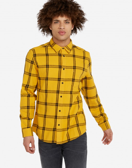 detail LS 1PKT SHIRT MINERAL YELLOW