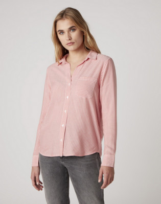 1 PKT STRIPE SHIRT BITTERSWEET RED