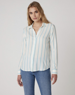 STRIPE SHIRT CARRIBEAN SEA