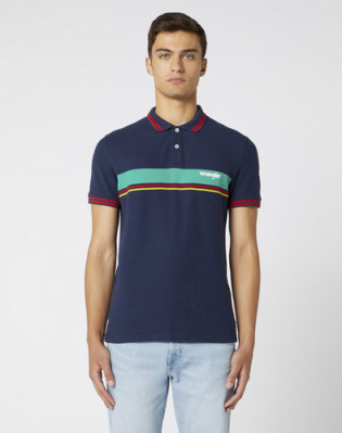 SS COLOURBLOCK POLO NAVY