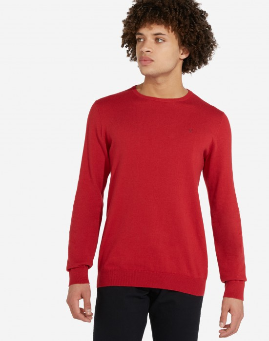 detail CREWNECK KNIT RED