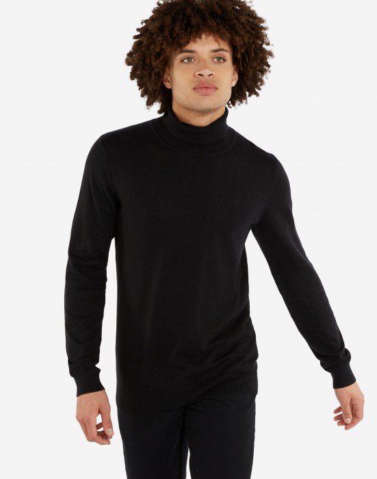 detail ROLL NECK KNIT BLACK
